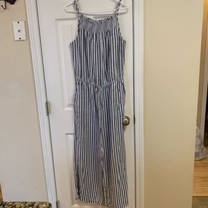 Old Navy pinstripe jumper overall jumpsuit